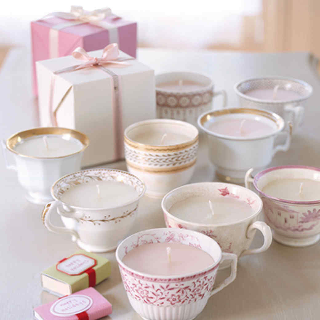 Martha Stewart's teacup candles, photo