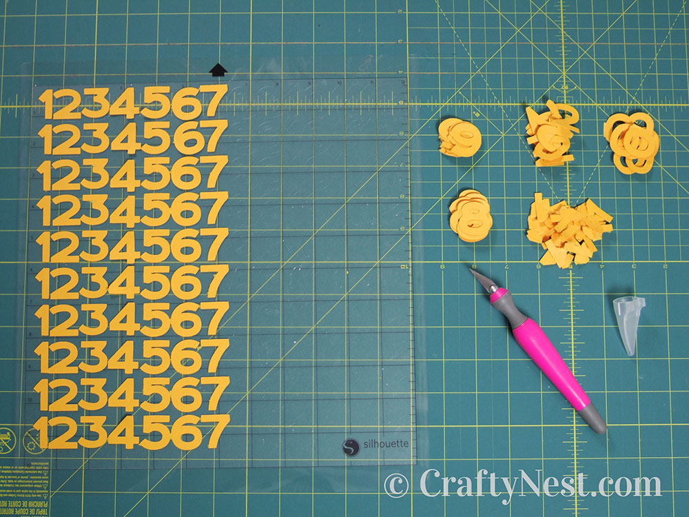 Peeling off the numbers, photo