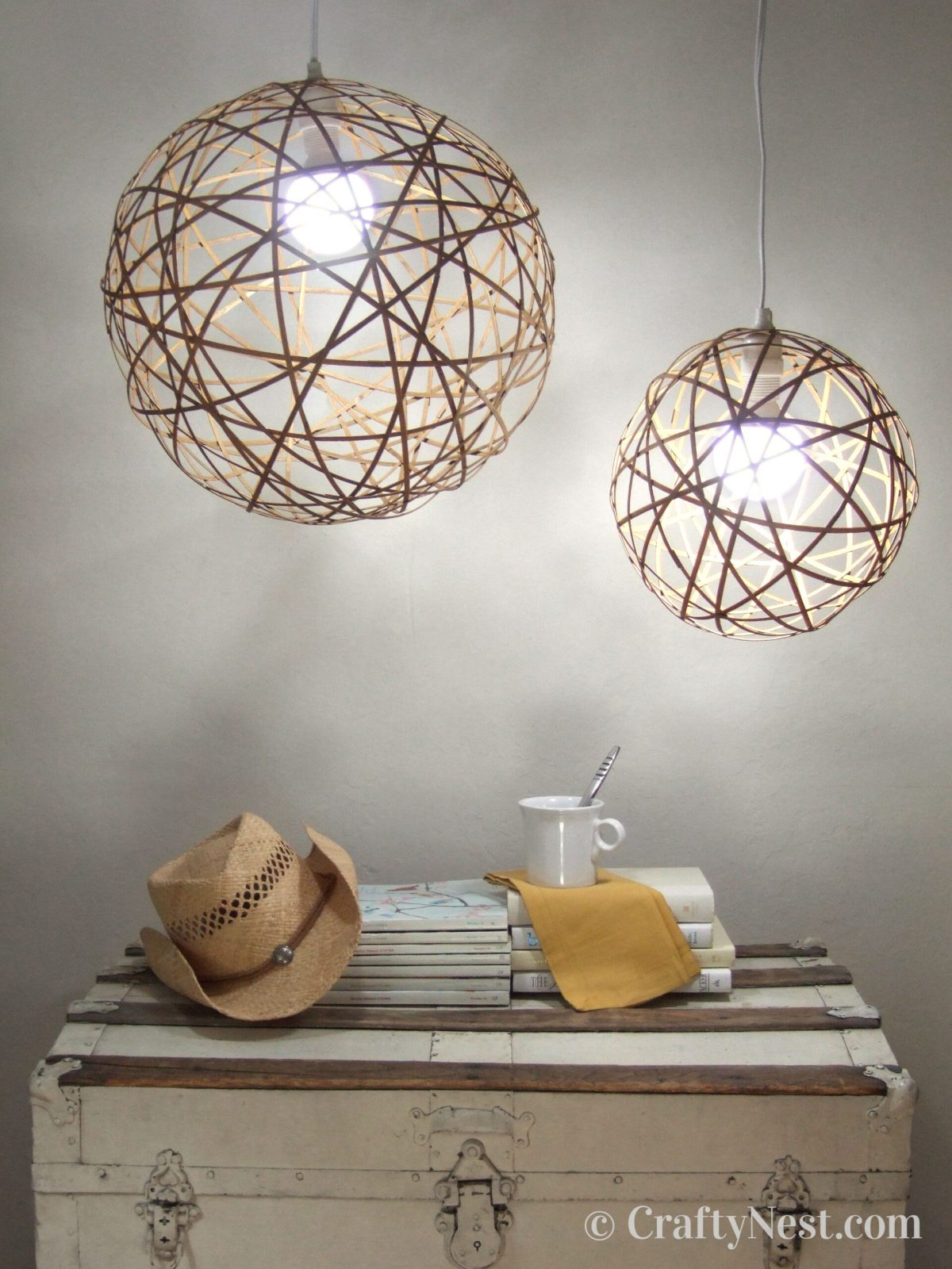 DIY bamboo orb pendant lights, photo