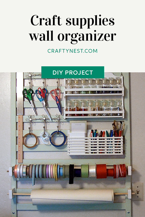 Crafty Nest crafting tool station with wall organizer Pinterest photo