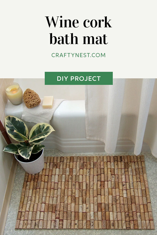 Crafty Nest wine cork bath mat Pinterest image