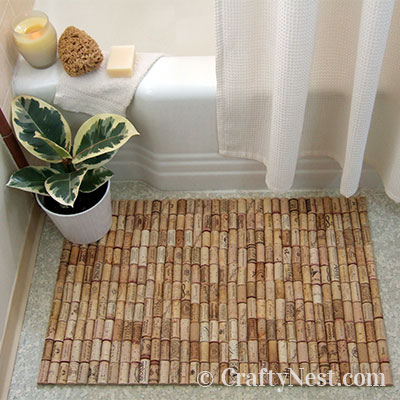Wine cork bath mat, photo