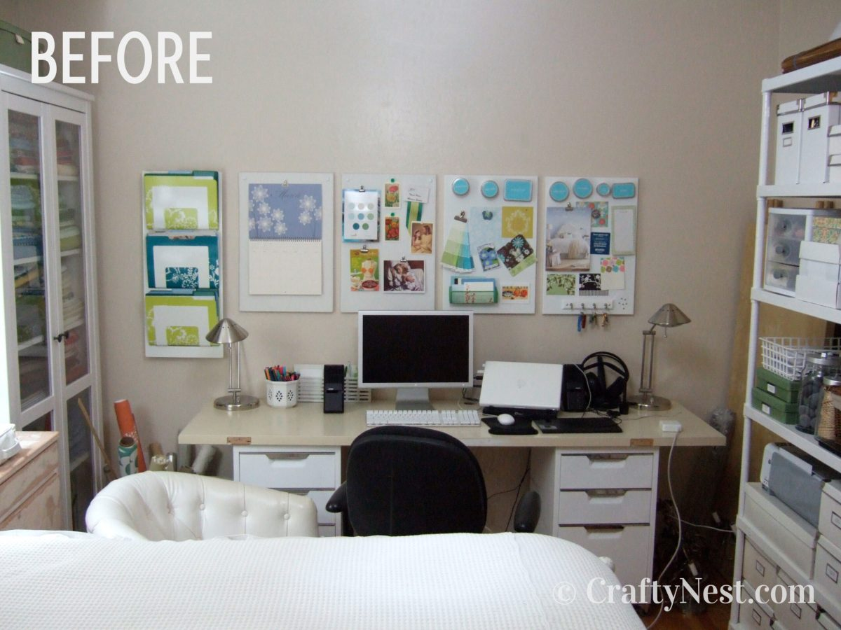 Desk, before photo