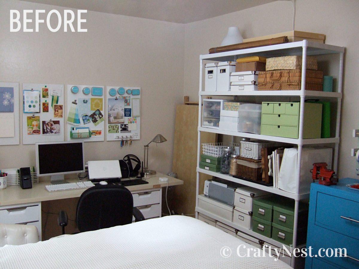 Storage rack, before photo