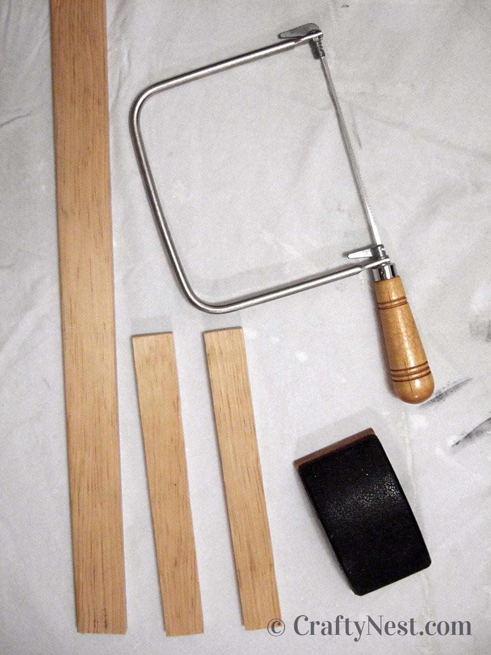 Cut piece of wood, photo