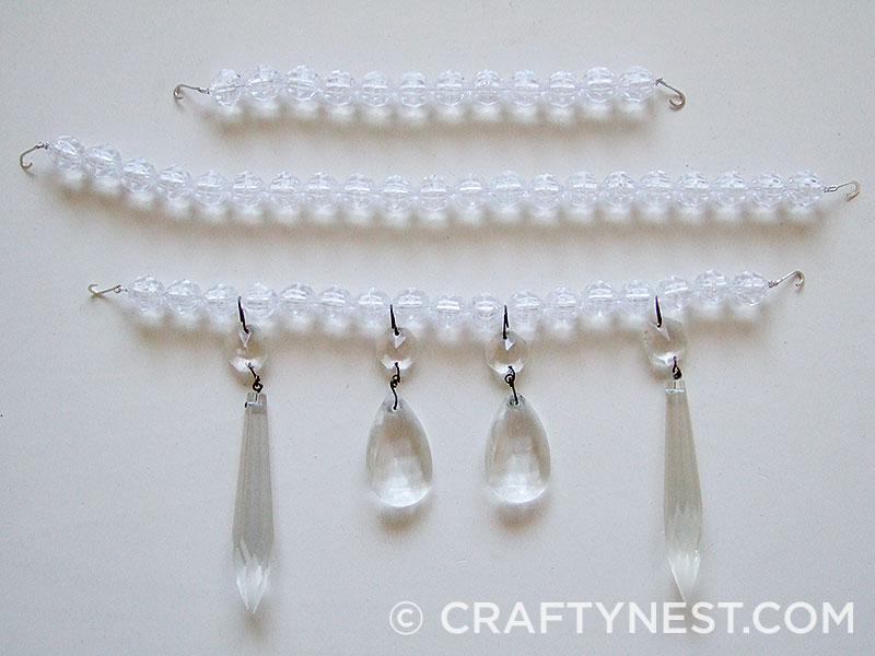Three bead lengths with crystals, photo