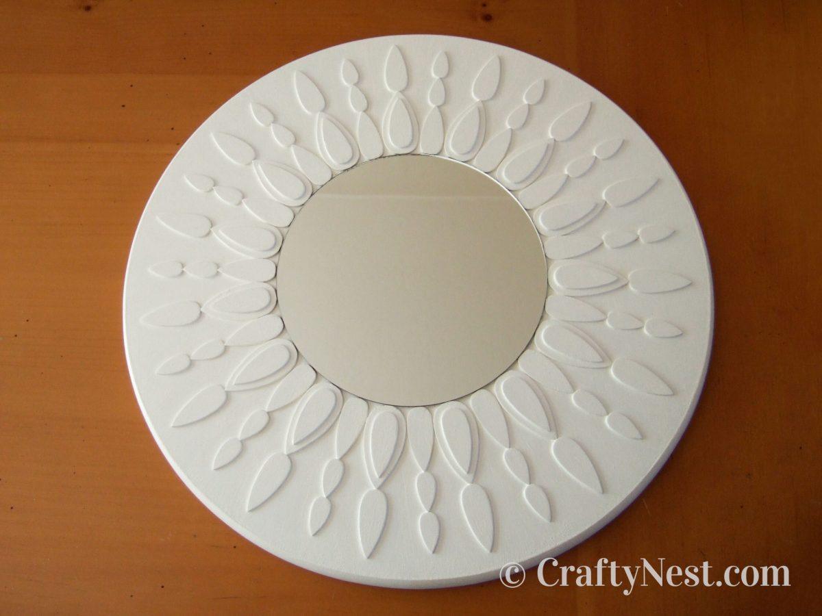 DIY white sunburst mirror, photo