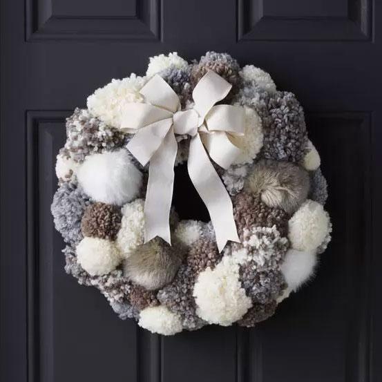 Joann crafts pom pom wreath, photo