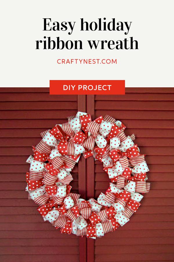 Crafty Nest ribbon wreath Pinterest image