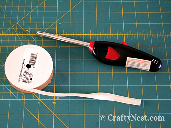 Melting the ribbon ends, photo