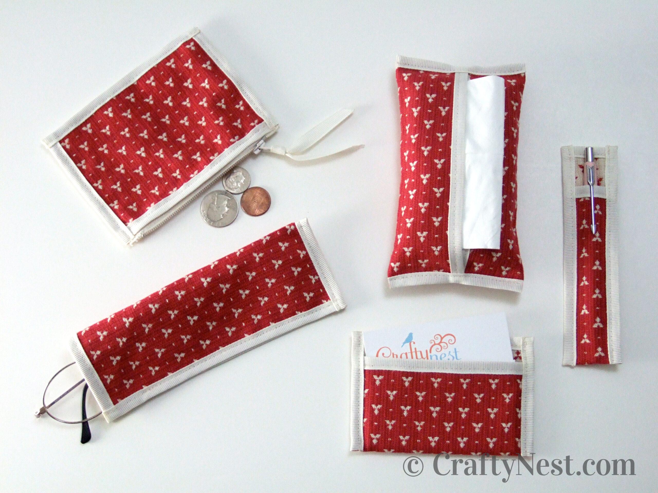 Set of handmade purse pouches, photo