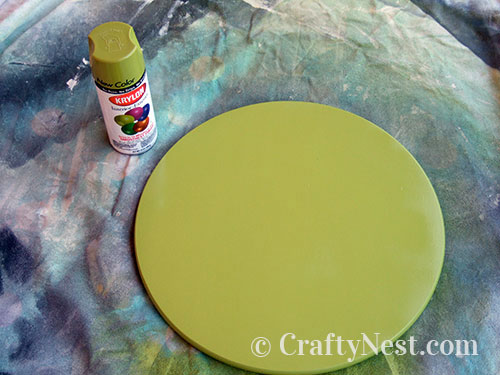 Spray paint the Lazy Susan, photo