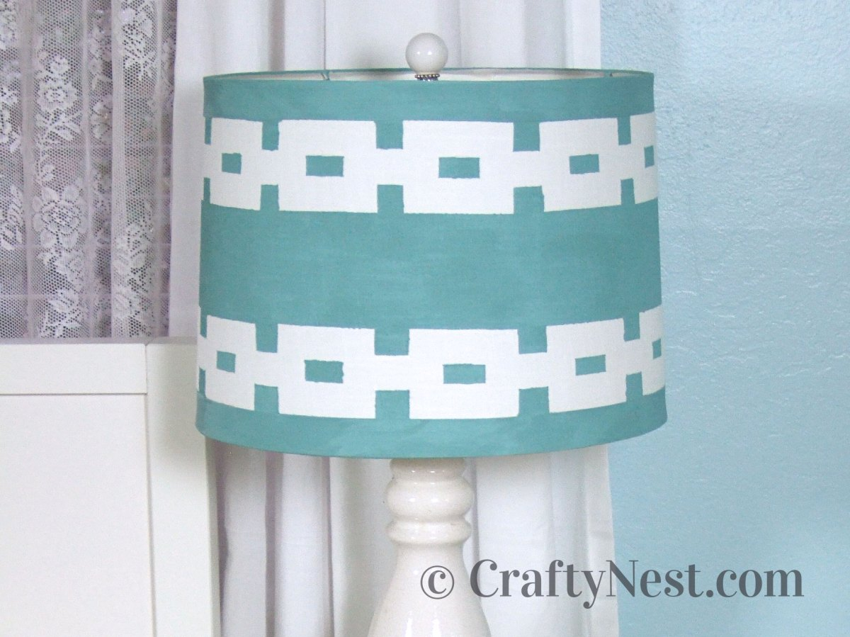 Painted lampshade, photo
