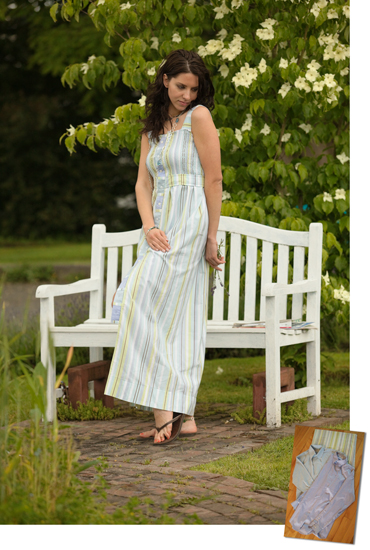 Shirred sheet dress, photo