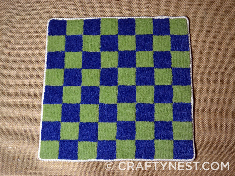 Finished checkerboard, photo