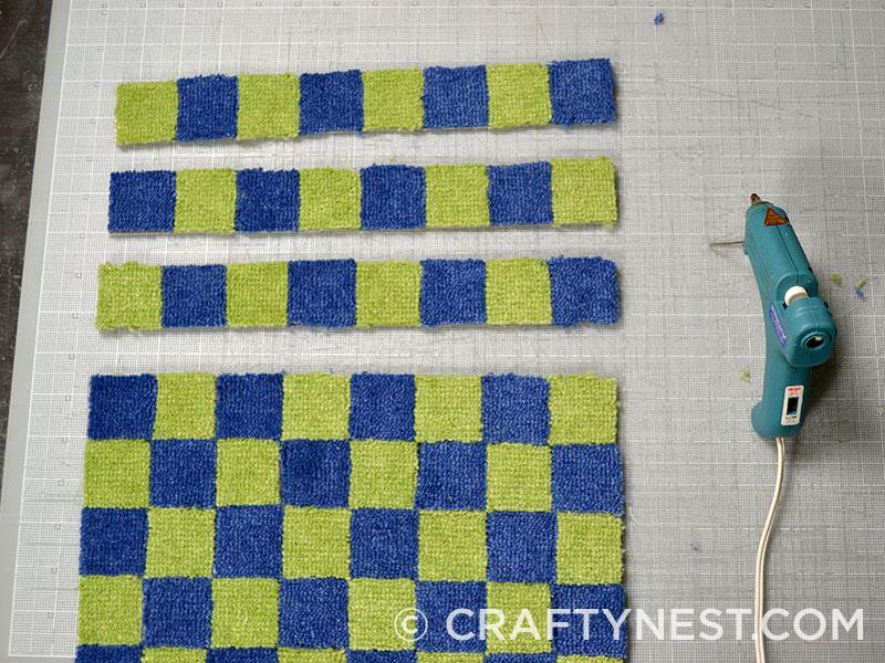 Glue carpet strips together, photo