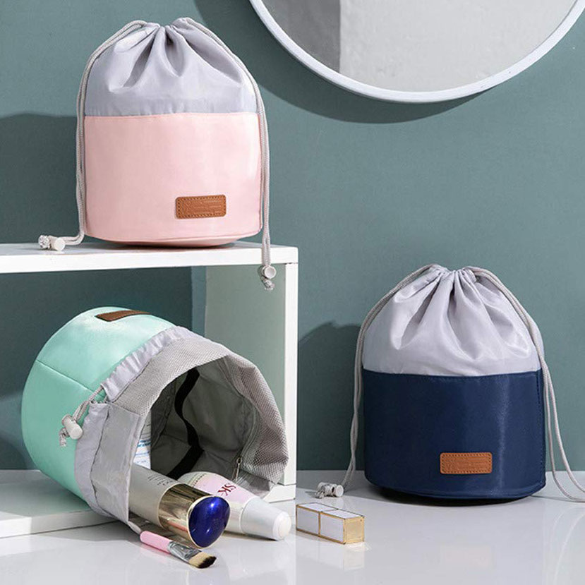 Drawstring bucket cosmetic bags, photo