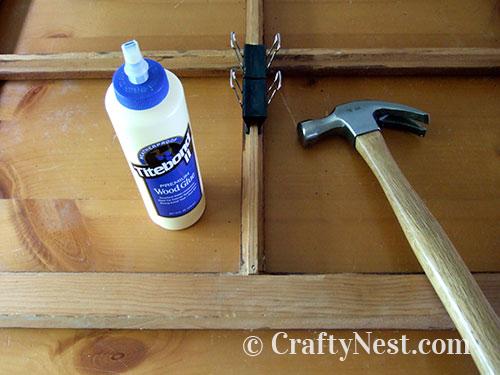 Repairing the window, photo