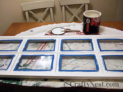 Paint the window frame, photo