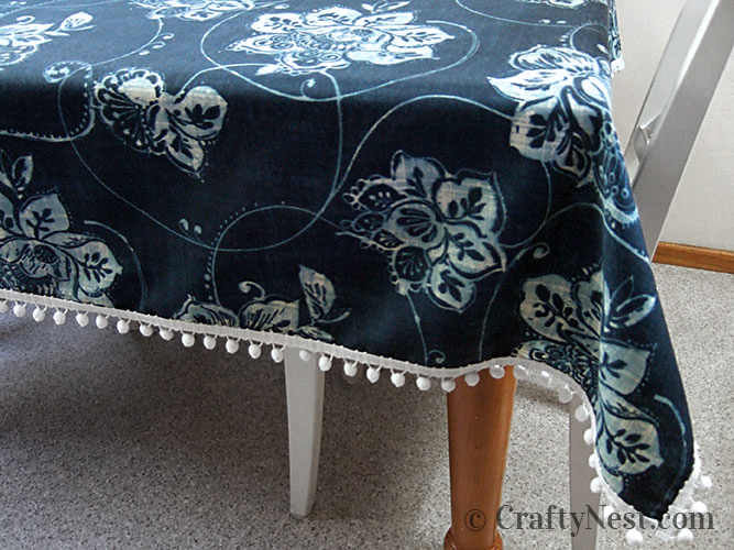 Finished tablecloth. photo