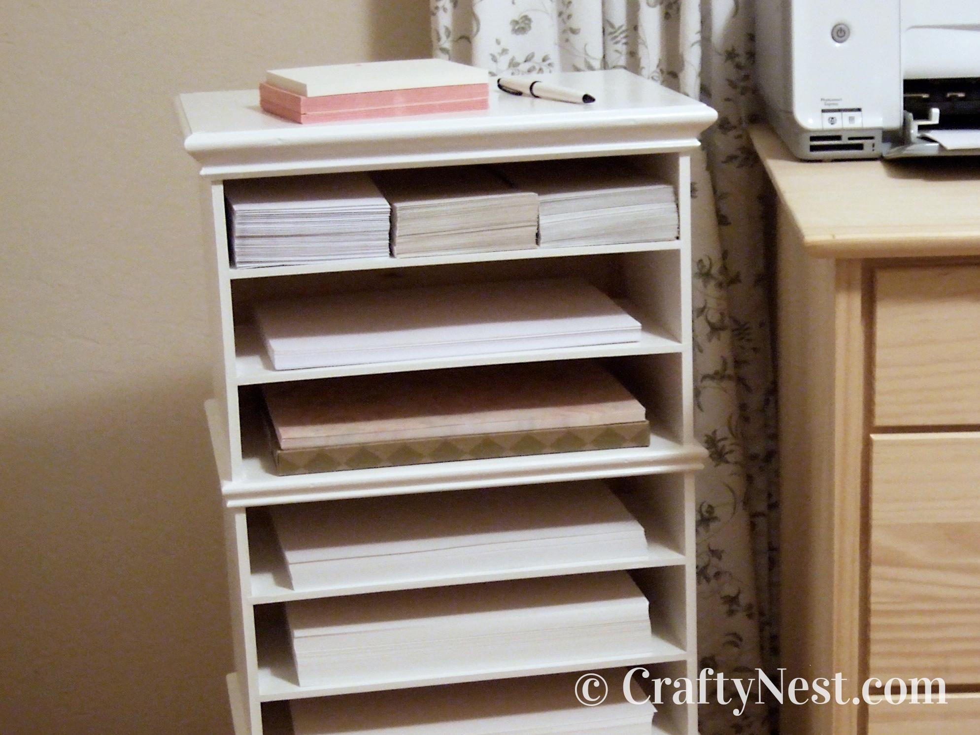 DIY paper organizer, photo
