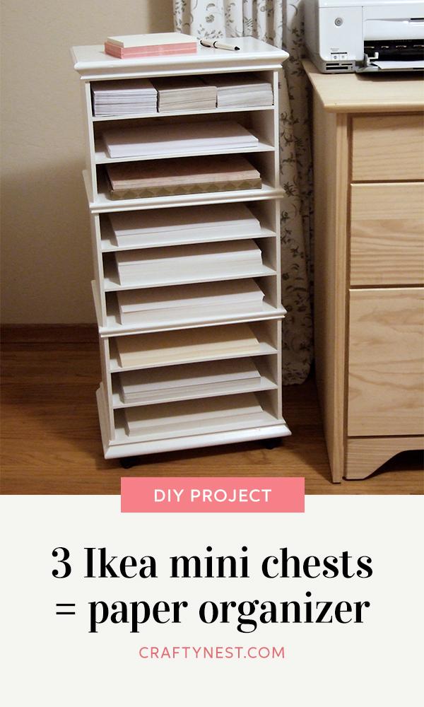 Crafty Nest three mini chests paper oraginzer, photo