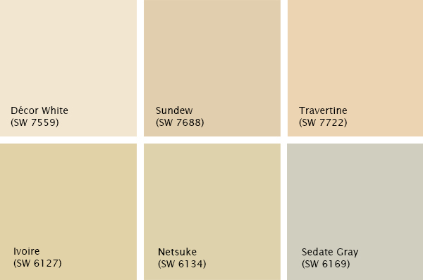 Warm neutrals Sherwin-Williams paint palette, photo