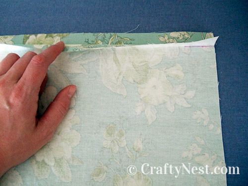 Folding the seam down, photo