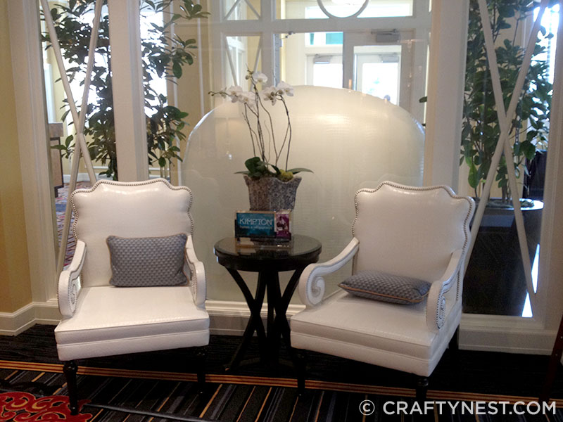 White chairs in Hotel Monaco lobby, photo