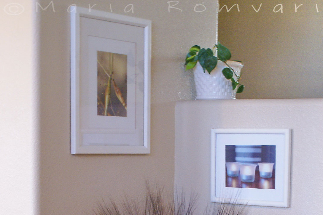 Picture frames on the wall, photo