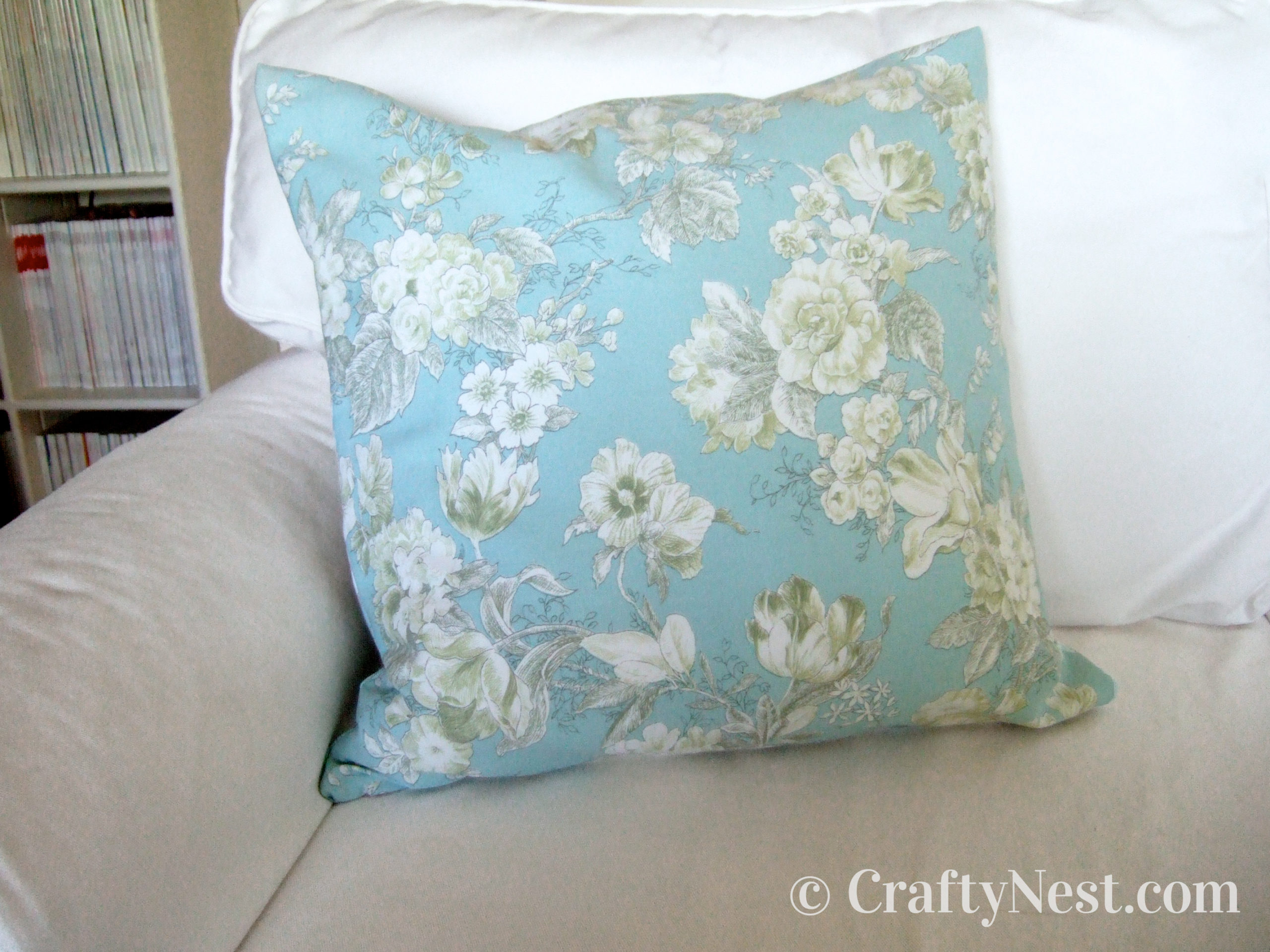 Toss pillow cover on sofa, photo