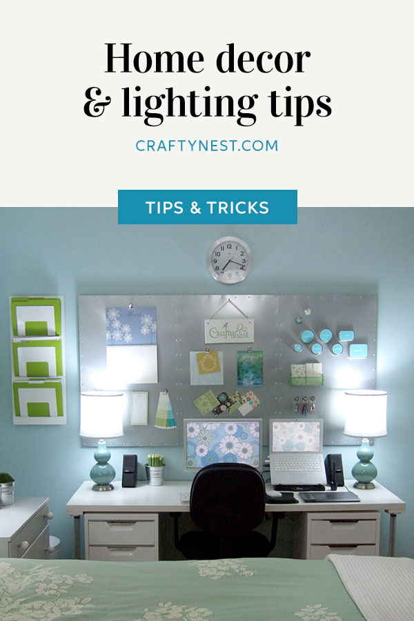 Crafty Nest home decor and lighting tips Pinterest image