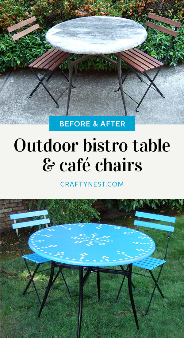 Crafty Nest outdoor bistro table and cafe chairs, photo