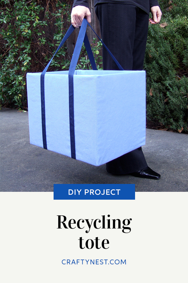 Crafty Nest recycling tote Pinterest image