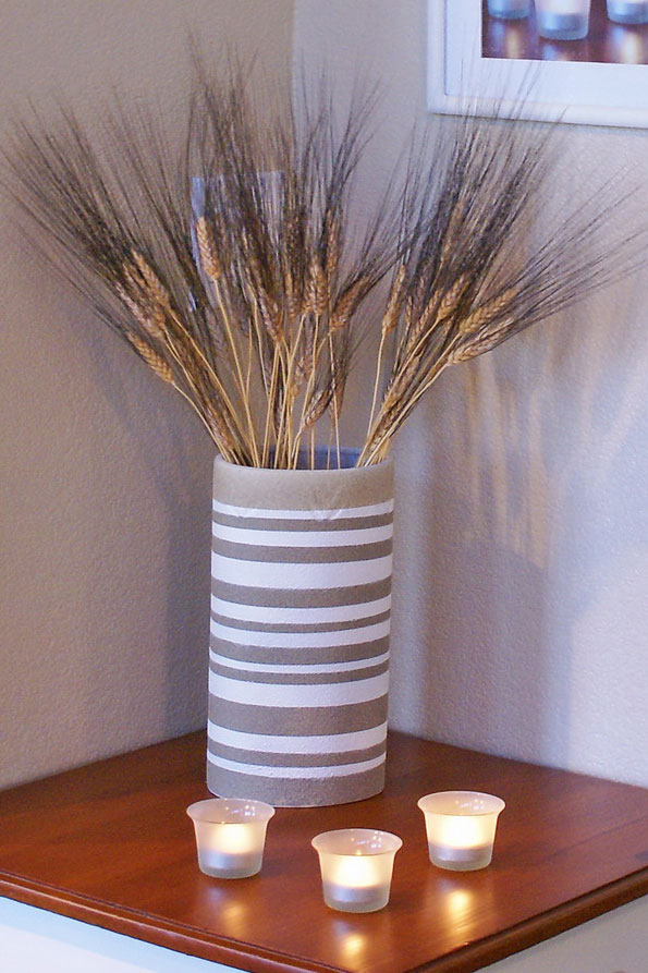 Finished striped vase, photo
