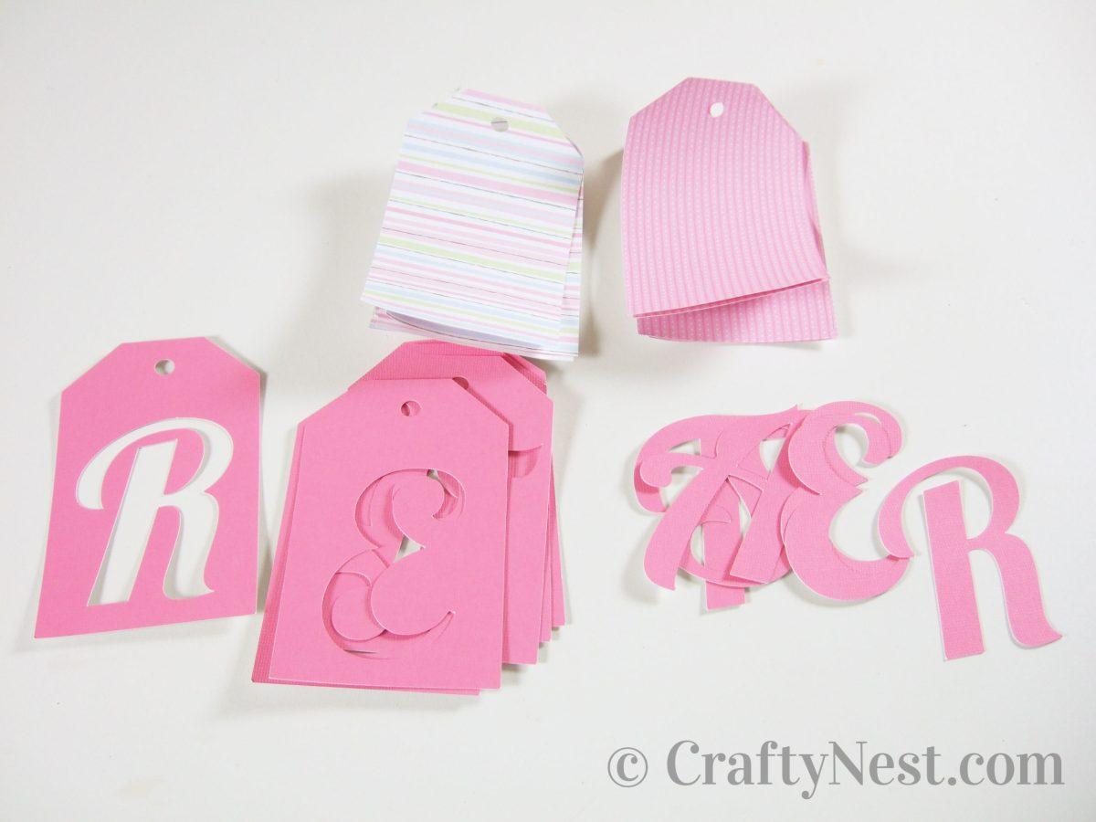 Cut pieces to make Easter tags, photo