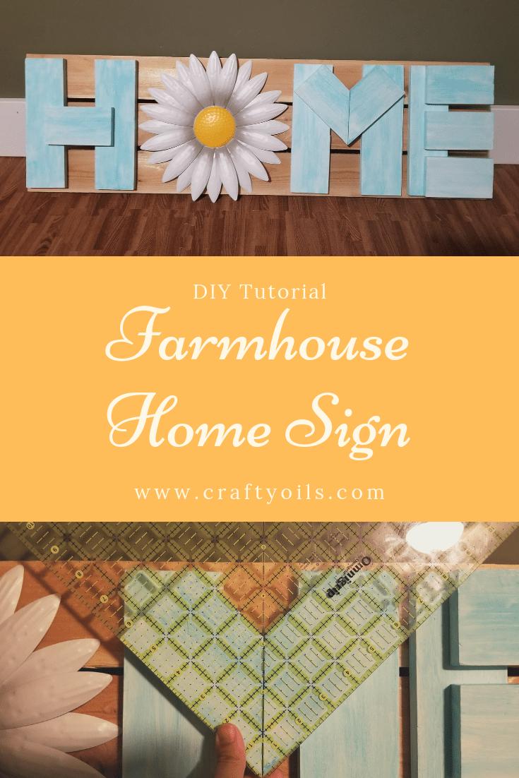 Farmhouse HOME sign Step by step DIY Tutorial