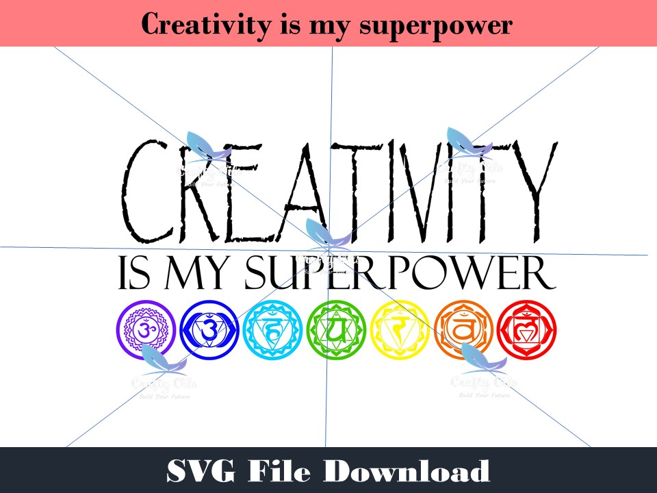 "If you are creative you are in alignment with your true self. You are magical. Creativity is my superpower is the perfect design for you. In your download you will receive an SVG, JPEG, PDF and Stuido3 files, to use on your next creative project, such as a shirt, coffee mug, water bottle, canvas, well pretty much anything you can think of.  **How the download works An instant automatic email will be sent to the email address provided, just click on the link provided below the word ""DOWNLOAD"" and the file will automatically load to your device. If you do not see the email in a few minutes, please check your SPAM and/or PROMOTIONAL email folders. As always you are welcome to email me at jessica.nay@craftyoils.com If you would like to use it commercially (anything over 100 uses)  please email Jessica at jessica.nay@craftyoils.com for permission."