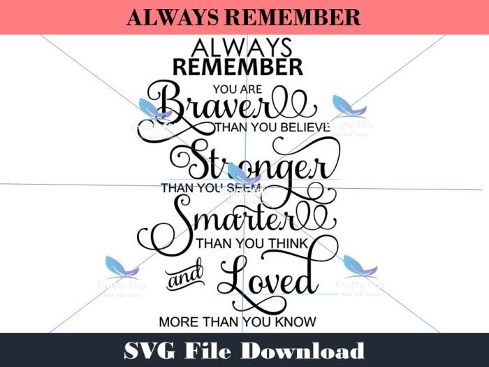 Always Remember SVG Download