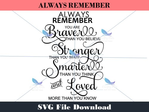 Always Remember SVG Download