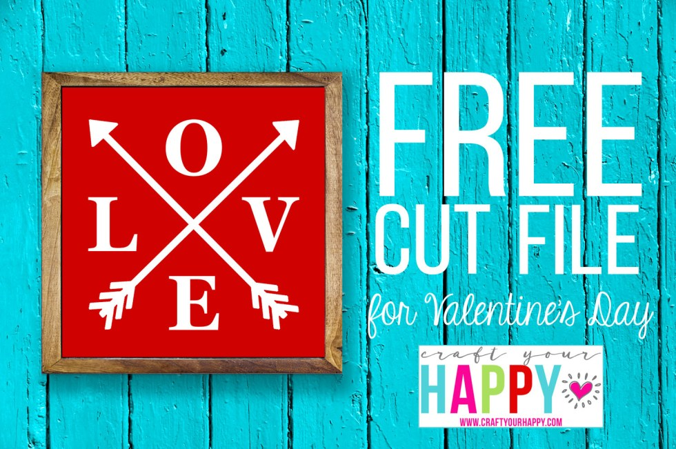 Free SVG Cut File - Love With Arrows