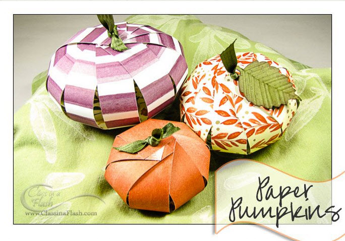 Paper Pumpkin for Fall by CraftyPerson