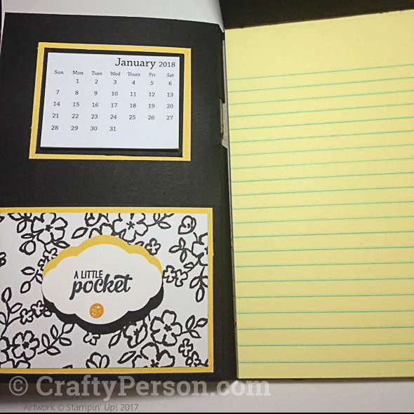 Note Pad with a Calendar and Pen