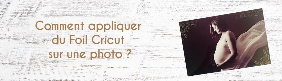 appliquer foil cricut photo