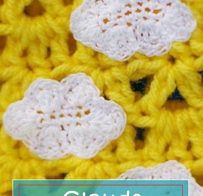Clouds crochet applique – FREE Pattern