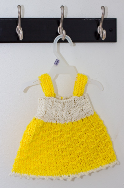 Cute Baby dress Free knitting pattern