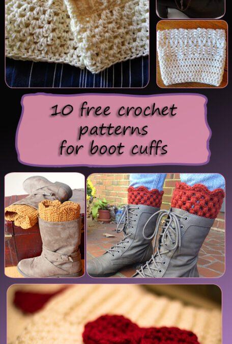 Boot Cuffs – Free crochet patterns roundup