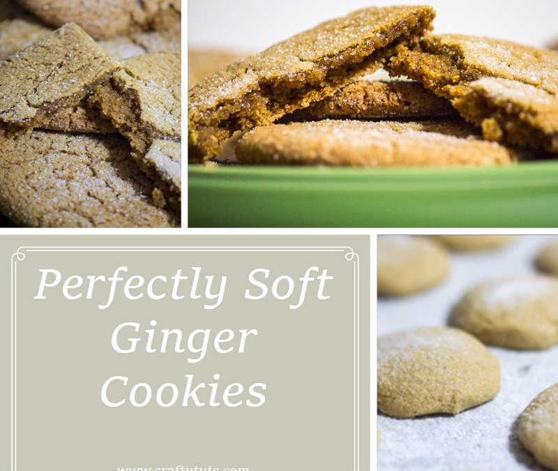 Perfectly soft ginger cookies