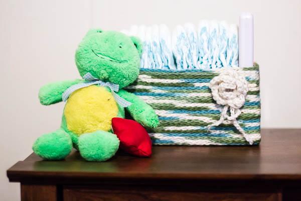 Crochet decorative storage box