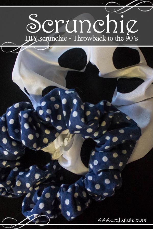 DIY scrunchie - how to make a scrunchie
